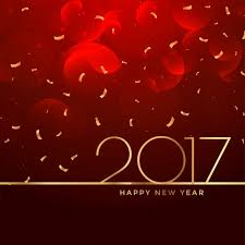 2017 new year celebration background in red color vector free