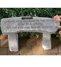 Personalized In Memory Of Gifts Personalized Memorial Garden Benches
