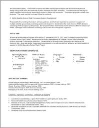 detailed resume sample bios