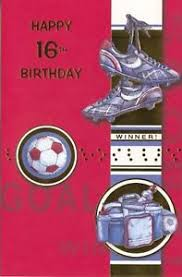 popular greetings birthday card happy 16th birthday sports theme