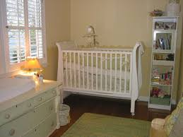 baby nursery neutral baby room decoration using white crib and