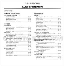 2011 ford focus repair shop manual original