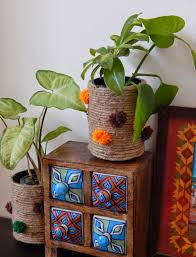 Recycle Home Decor Ideas The Sunshine Corner Recycled Jute Vase Indian Home Decor