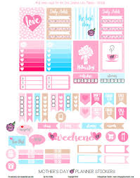 mothers day stickers s day planner stickers free printable vintage glam studio