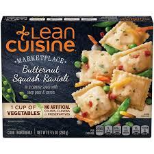 lean cuisine marketplace butternut squash ravioli in a