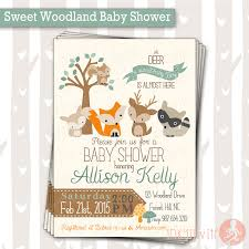 woodland creature baby shower sweet woodland baby shower invitation baby boy woodland