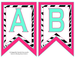 printable alphabet bunting banner small swallowtail printable banner letters a z numbers 0 9 th