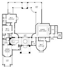 interior courtyard house plan called the