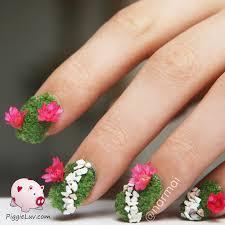 piggieluv secret garden nail art plus video tutorial