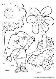 dora coloring pages dora explorer coloring pages yahoo