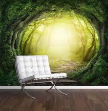 wallpaper murals roll up banner enchanted forest wall mural photo wallpaper magic fantasy world trees