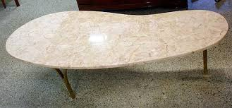 vintage marble coffee table kidney bean shaped marble coffee table
