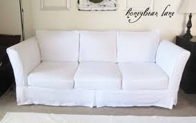 Couch Covers How To Make A Slipcover Part 2 Slipcover Reveal Honeybear Lane