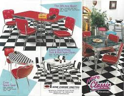 50 s diner table and chairs still in production after nearly 70 years acme chrome dinettes made