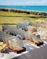 Unique Place Cards Outdoor Escort Card Displays Martha Stewart Weddings