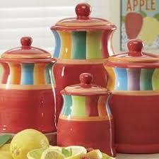 4 piece multistripe canister set kitchen u0026 pantry pinterest
