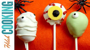 how to make halloween cake pops hilah cooking youtube