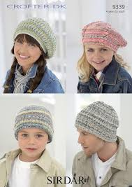 sirdar 9339 knitting pattern family hats and berets in sirdar