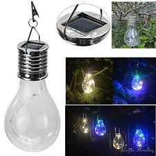 decorative hanging solar lights hanging solar led light bulb wireless rotatable waterproof outdoor