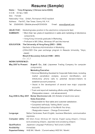 marketing executive resume sample hong kong resume sample frizzigame resume salary template