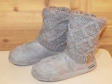 womens slipper boots size 11 medium b m booties size 11 slippers for ebay