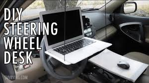 Desk Mounted Laptop Stand by Diy Steering Wheel Desk Or Laptop Stand Youtube