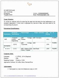 best resume format for freshers computer engineers pdf resume format for freshers mechanical engineers pdf inspirational