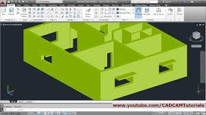 autocad 3d house modeling tutorial beginner basic 1 youtube