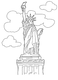statue of liberty coloring pages for children free coloring