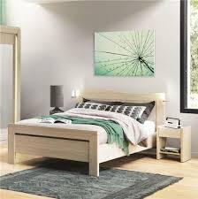 chambre chene blanchi chevet 1 tiroir finition chêne blanchi cosy meubles bouchiquet