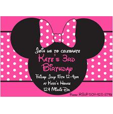 minnie mouse printable invitation pink 2