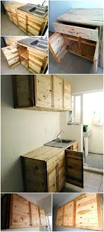 kitchen cabinets from pallet wood wood pallet recycled kitchen cabinets pallet ideas