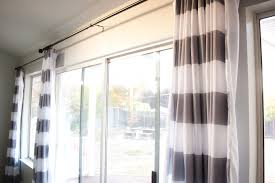 ideas u0026 tips horizontal striped curtains with white wall for