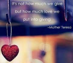 it s not how much we give but how much we put into giving
