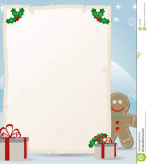 santa claus letters letter to santa claus with gingerbread stock vector