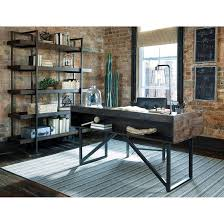 modern rustic industrial bookcase with 5 shelves by signature