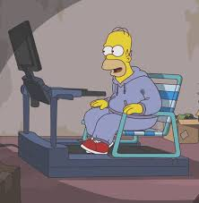 Treadmill Meme - how treadmills were meant to be used the simpsons know your meme