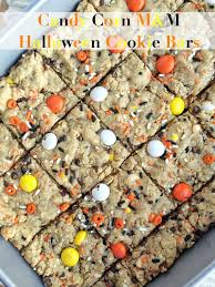 candy corn halloween cookie bars i dig pinterest