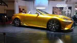 lexus yellow convertible giias 2017 3rd day lexus lf c2 youtube