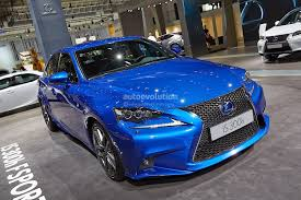 lexus sports car blue 2014 lexus is 300h f sport in ultra blue at frankfurt 3 jpg 1500