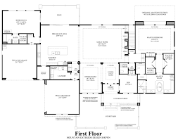 Contemporary Floor Plan by Boulders At Somersett The Ranier Nv Home Design