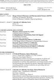 Best Pharmacist Resume Sample Pharmacist Resume Template Intern Pharmacist Resume Choose