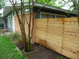 basic low cost horizontal fence outdoor spaces pinterest