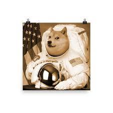 Dogecoin Meme - dogecoin meme art poster such wow such print bitcoin