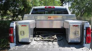Ford Diesel Drag Truck - auxiliary transfer tanks toolbox combos the fuelbox