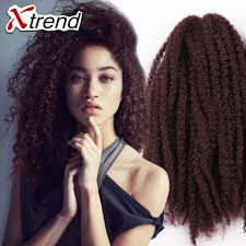 hair for crochet weave hot sale 18 100g afro kinky curly twist hair crochet braids marley