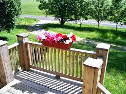 patio ideas planters deck railing window boxes railing planters