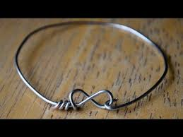 How To Make Jewelry Out Of Wire - diy wire infinity heart bracelets youtube