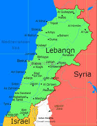 lebanon on the map map of lebanon middle east maps map pictures