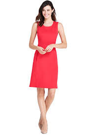 sheath dress women s sleeveless scoopneck ponté knit sheath dress from lands end
